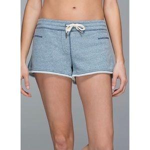 Lululemon All You Need Shorts Blue Marle Size 8
